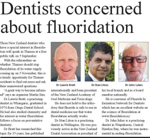Dentists concerned about fluoride