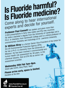 Fluoride Free NZ Poster Taupo