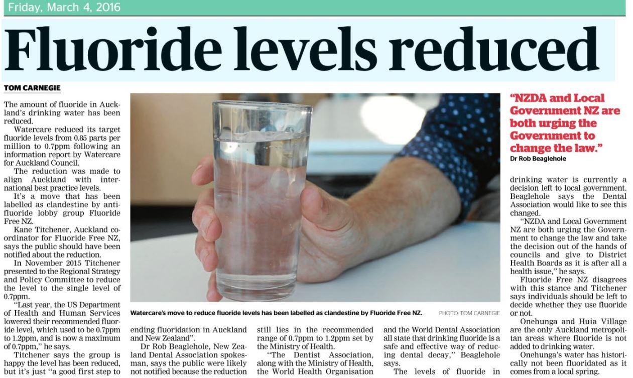 Fluoride Free NZ Auckland City - Fluoride us map