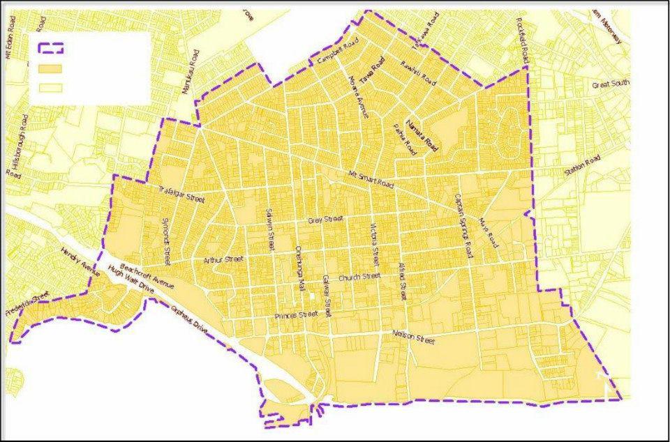 Onehunga Non Fluoridation Map